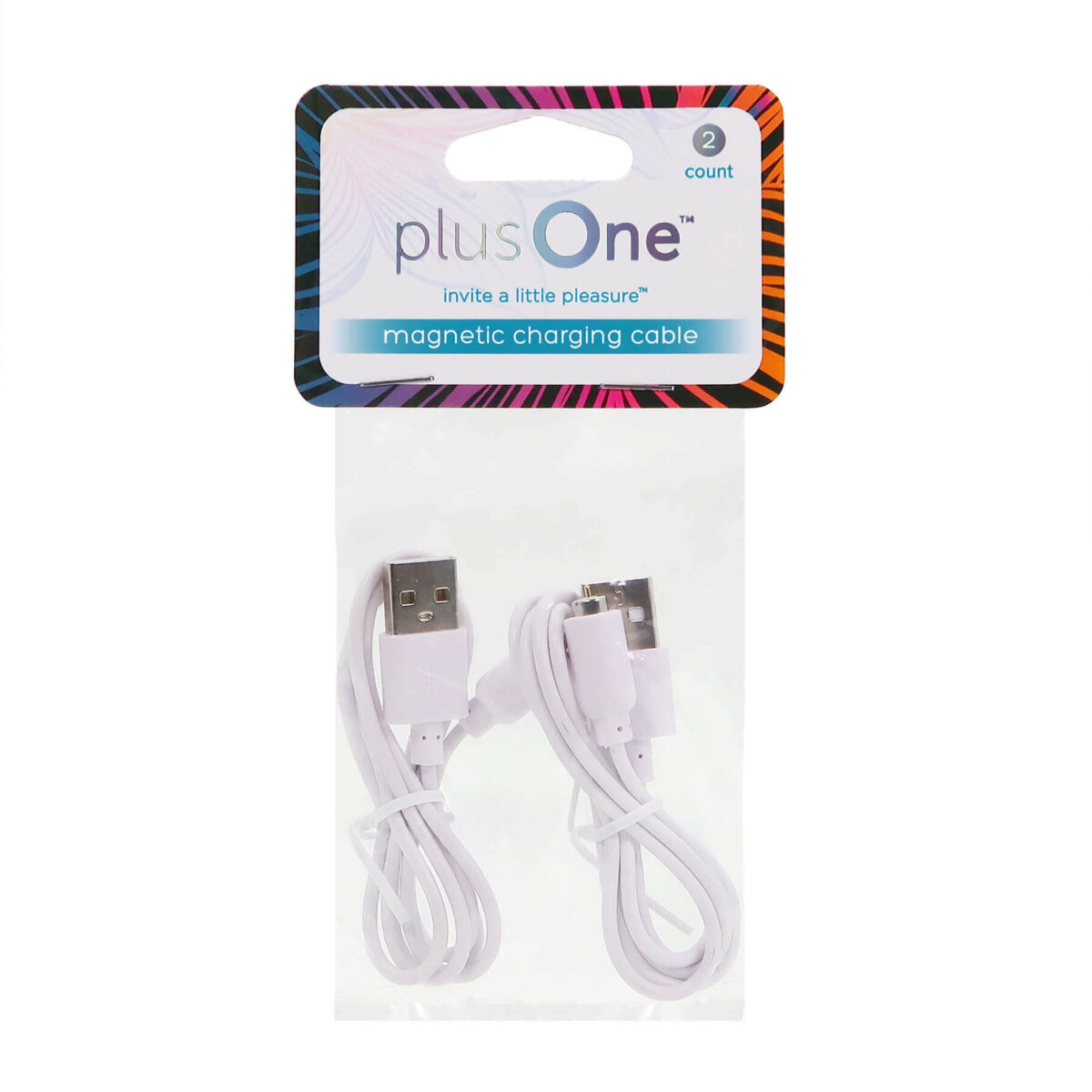 plusOne® magnetic charging cable replacement (2 pack) 6717 in pack front view